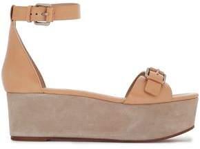 Michael Kors Buckled Leather Platform Sandals