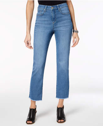 Style&Co. Style & Co Petite Frayed Cropped Jeans, Created for Macy's
