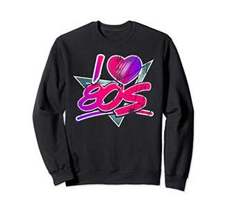 I Love 80s Vintage Look Themed Party Sweatshirt