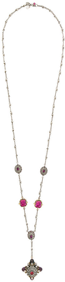 Alexander McQueenAlexander McQueen jewelled bullet pendant necklace