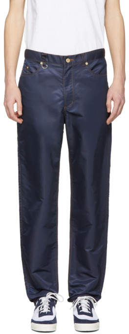 Landlord Navy Nylon Trousers