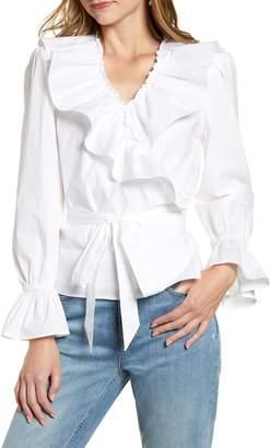 Rachel Parcell Ruffle Wrap Top