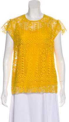 Philosophy di Lorenzo Serafini Embroidered Short Sleeve Top w/ Tags