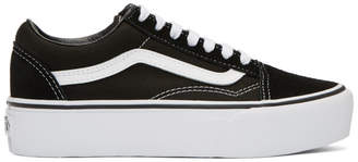 Vans Black and White Old Skool Platform Sneakers