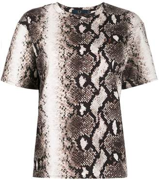 Fred Perry snakeskin print T-shirt