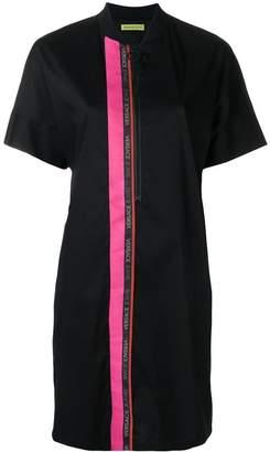 Versace contrast-stripe shirt dress