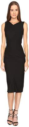 Zac Posen Stretch Cady Sleeveless Tea Length Dress Women's Dress