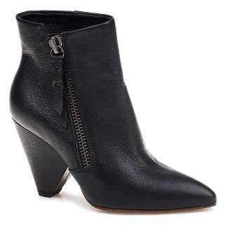 Splendid Women's Neva Pointed Toe Leather Mid-Heel Booties