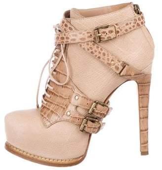 Christian Dior Platform Ankle Boots