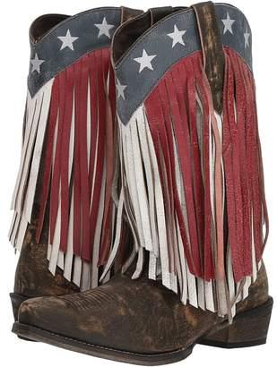 Roper American Beauty Fringe Cowboy Boots