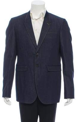 Burberry Two-Button Denim Blazer