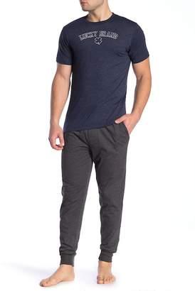 Lucky Brand Short Sleeve Jersey Tee & Sleepwear Jersey Joggers Gift Set