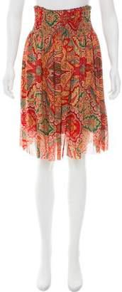 Akris Punto Silk Printed Skirt