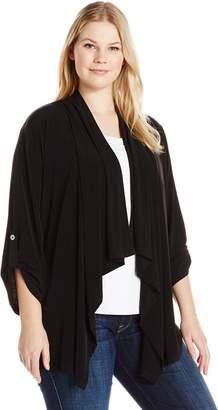 Calvin Klein Women's Plus Size Open Flyaway Cardigan