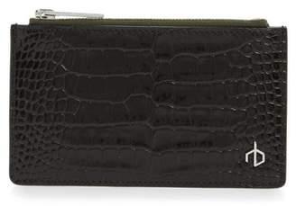 Rag & Bone Croc Embossed Leather Zip Card Case
