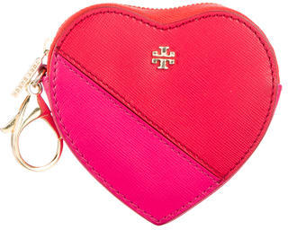 Tory Burch Leather Heart Coin Purse $75 thestylecure.com