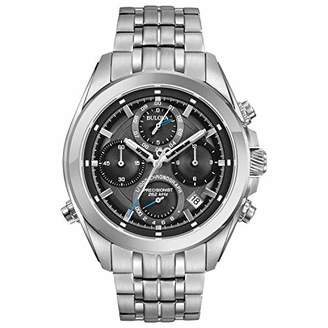 Bulova Womens Chronograph Quartz Watch with Stainless Steel Strap 96B260