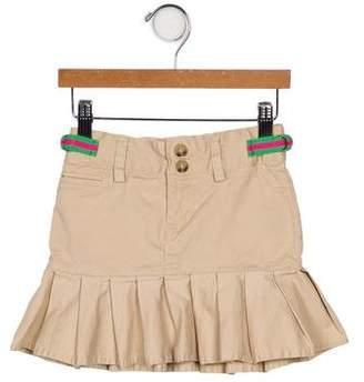 Ralph Lauren Girls' Buckle-Accented Pleated Skirt