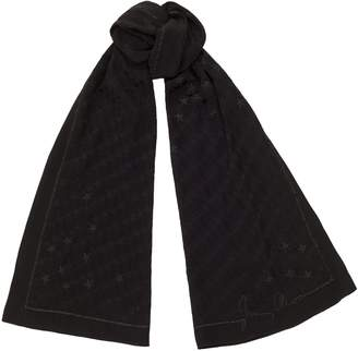 Jimmy Choo ORLY Black Woven Jacquard Stole