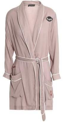 Love Stories Appliquéd Cotton-Voile Robe