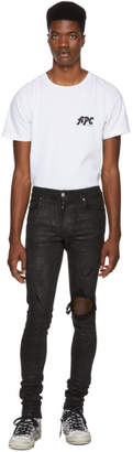 Amiri Black Glittered Broken Jeans