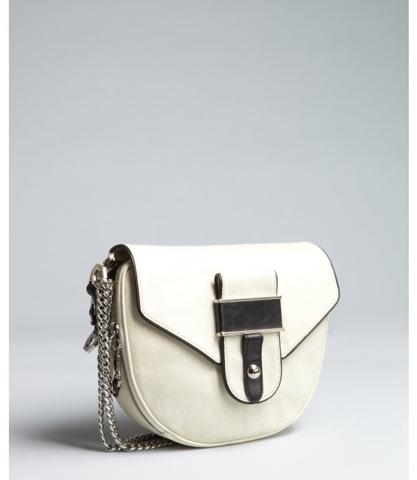 Rebecca Minkoff ivory stingray embossed leather 'Huntington' saddle bag