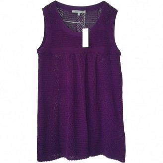 Gerard Darel Purple Cotton Top for Women