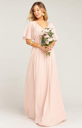Show Me Your Mumu Emily Empire Maxi Dress ~ Dusty Blush Crisp