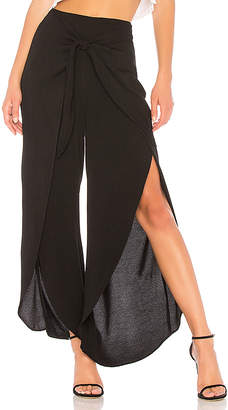 Bobi Front Slit Pants