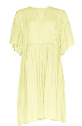 Etoile Isabel Marant Annaelle Embroidered Cotton-Voile Midi Dress