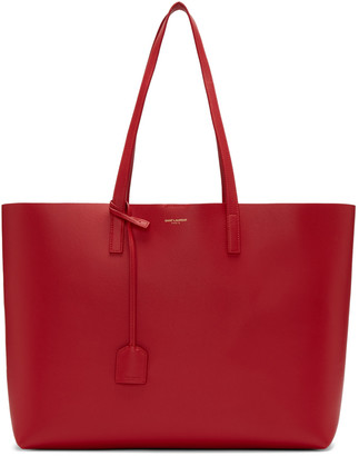 Saint Laurent Red Large Shopping Tote Bag $995 thestylecure.com