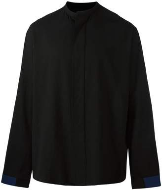Haider Ackermann collarless shirt