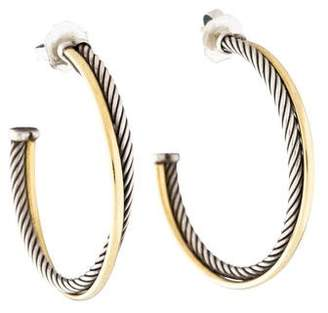 David Yurman Crossover Extra-Large Hoop Earrings