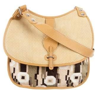 Balenciaga Ponyhair & Woven Leather Bag