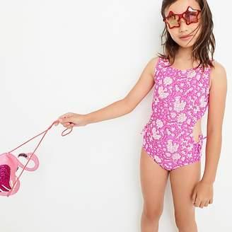 J.Crew Girls' SZ BlockprintsTM for crewcuts cutout one-piece swimsuit