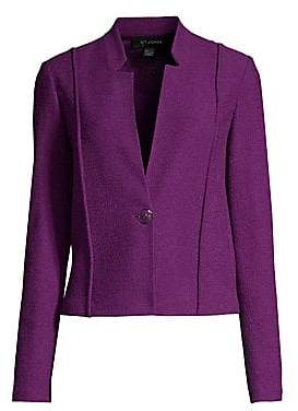 St. John Women's Ana Bouclé Knit Notch Collar Blazer