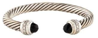 David Yurman Onyx & Diamond Cable Classics Bracelet
