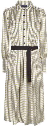 Piazza Sempione Silk Check Dress