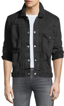 Balmain Men's Destroyed Denim Jacket