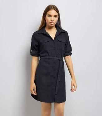 Yumi Navy Shirt Dress