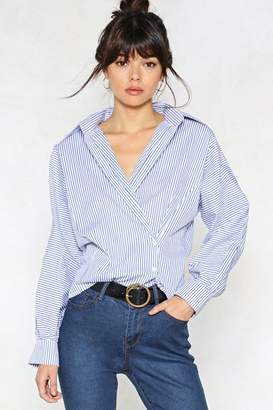 Nasty Gal Open to Suggestions Striped Shirt