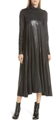MM6 MAISON MARGIELA Coated Turtleneck Dress