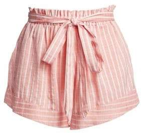Amalfi by Rangoni Belted Striped Paperbag Shorts