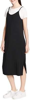 Calvin Klein Layered-Look Midi Slip Dress