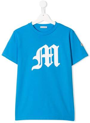 Moncler TEEN initial logo T-shirt