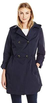 Lark & Ro Women's Double Breasted Cinch Trench Coat
