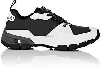Prada Men's Tech Fabric & Rubberized Leather Sneakers
