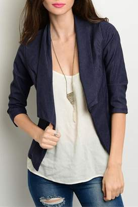 Yoyo5 Navy Denim Blazer $35 thestylecure.com