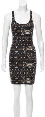 Torn By Ronny Kobo Printed Sleeveless Dress