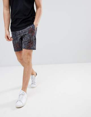 Abercrombie & Fitch Chino Shorts Floral Print in Navy
